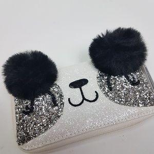 NEW! Glitter & Faux Fur Panda Wallet